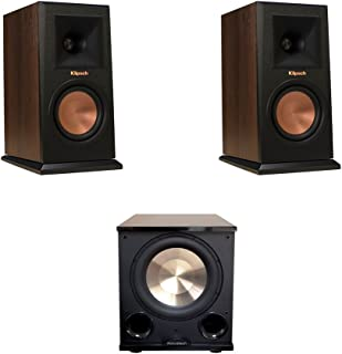 Klipsch 2 RP-150M Walnut Monitor Speakers, 1 BIC/Acoustech Platinum Series PL-200 II Subwoofer