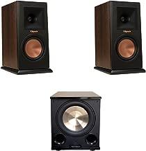 Klipsch 2 RP-150M Walnut Monitor Speakers, 1 BIC/Acoustech Platinum Series PL-200 II Subwoofer