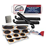 RocRide 16-PC Inner Tube Patch Bicycle Repair Kit. Also for Inflatable Dinghies, ATVs, BMX and Motorcycles....