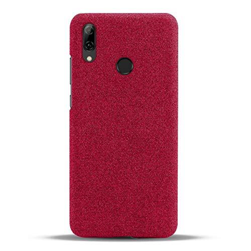 Suhctup Compatible con Xiaomi F2 Funda de Tela Tejida de Color Sólido TPU Forrada Premium de Carcasa Simple Moda Antideslizante Antigolpes Anti-arañazos Protección Caso(Rojo)