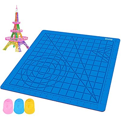 3D Pen Silicone Design Mat with Basic Template
