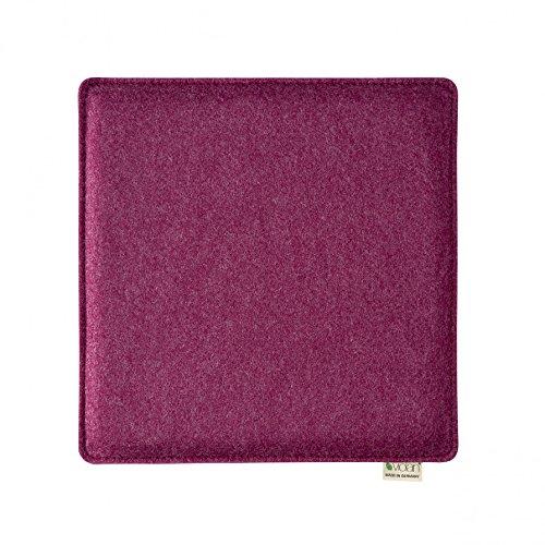 Violan Sitzkissen quadratisch - 33 x 33 cm, h 1,6 cm - berry