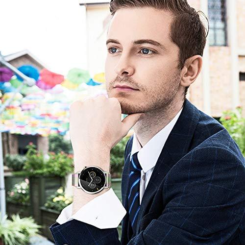 『時計バンド ベルト、 Fullmosa 全6色 Smart watch バンド マグネット式 腕時計バンド ベルト ウォッチバンド ミラネーゼ メッシュバンド 交換ベルト』の2枚目の画像
