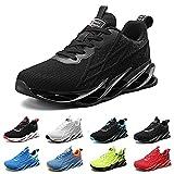 Zapatillas de Running para Hombre Mujer Zapatos para Correr y Asfalto Aire Libre y Deportes Calzado G33 Negro EU 40 Black