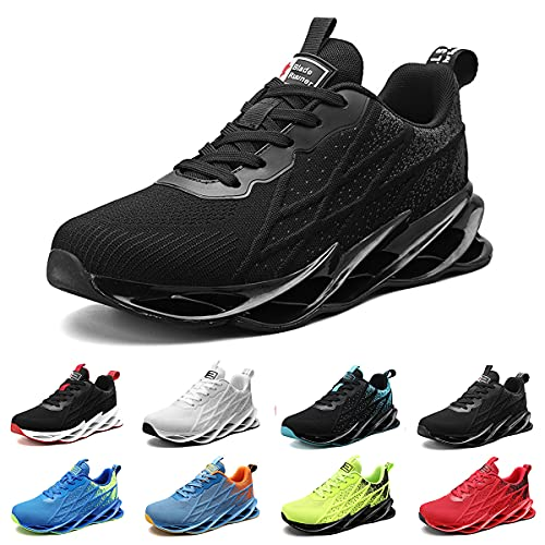 Uomo Donna Air Scarpe da Ginnastica Corsa Sportive Fitness Running Sneakers Basse Interior Casual all'Aperto G33 Nero EU 39 Black