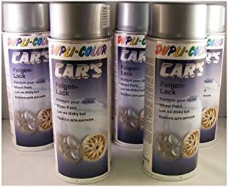 Dupli Color 385919- Espray para llantas de aluminio para coche, 400 ml, 6 unidades