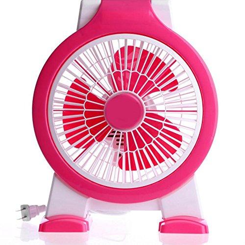 Miaoge Boxventilator Student Ventilator Tischventilator kleiner Ventilator mini Lüfter Kind Lüfter großer Wind 15.6*27.4cm