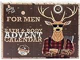 Calendrier de l'avent XXL HIPSTER pour hommes - Calendrier de Noël pour hommes avec soins personnels - cerf