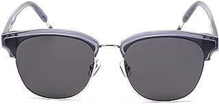 LUKEEXIN Sunglasses UV400 100% Polarized Lens Aluminum Men's Women's Metal Frame (Color : Gray Frame/Gray Lens)