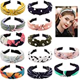 Jaciya 12 Pieces Knotted Headbands for Women Solid Headbands for Women Wide Headbands for Women Knot Headband Diademas para Mujer Headband for Women Cloth Headbands Knot Headbands
