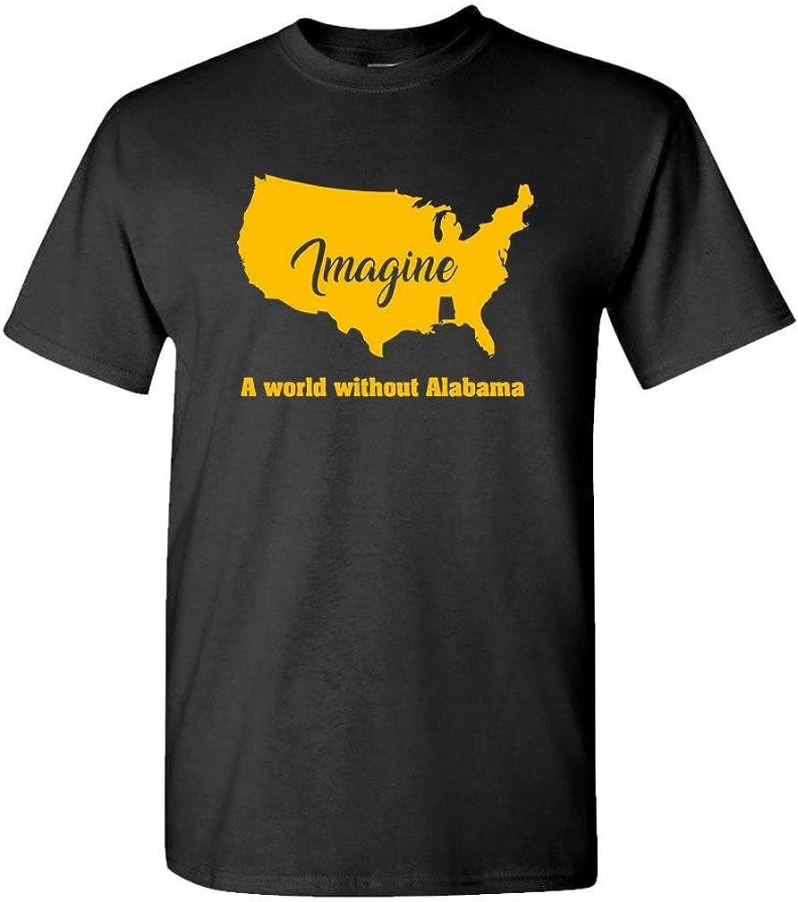 Alabama Joke Imagine no USA States Meme - Mens Cotton T-Shirt