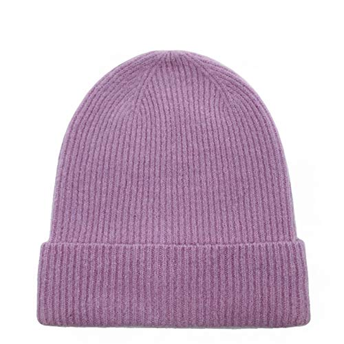LCBD Slouchy Beanie Hats, Soft Winter Knitted Caps, Warm Hat for Men and Women, Purple