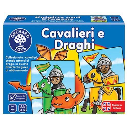 Orchard Toys - Caballeros y dragones, juego de mesa educativo (versión italiana).