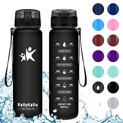KollyKolla Trinkflasche - BPA-frei Auslaufsicher Sport Wasserflasche, 500ml Tritan Sportflasche...