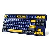 Akko 3087 Horizon Teclado mecánico, 87 Teclas Teclado para Juegos con Type-C Cable con Tapas de Teclas PBT, 3 Altura Ajustable, Programación Macro, Azul