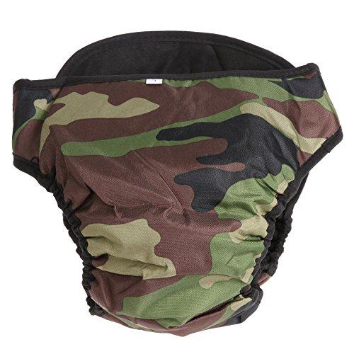Matefielduk hondenluierbroek voor huisdieren, korte broek voor dames, voor menstruatieshunde, groen L