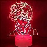 Luz De Ilusión 3D Luz De Noche Led My Hero Academia Ara Todoroki Shoto Anime 7 Colores Premio Para Eventos Infantiles Luces Para Dormir Niños Regalos De Vacaciones