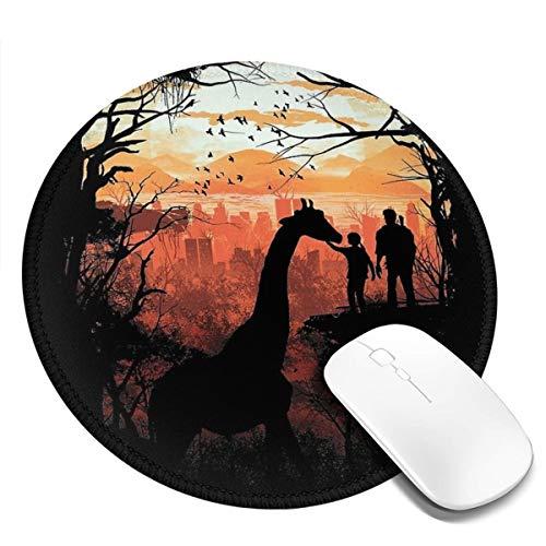 The Last of Us Rundes Mauspad, 20 x 20 cm, Schreibtisch-Tastaturmatte, großes Mauspad für Computer, Desktop, PC, Laptop, 3D-Druck Dekoration, Schwarz, 1 Stück