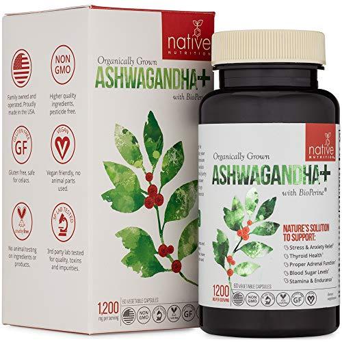 Organic Ashwagandha Root Herbal Supplement