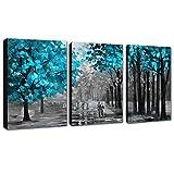 3 paneles de lienzo abstracto moderno, pintura decorativa, arte adecuado para sala de estar, listo para colgar, estirar en tamaño de marco (panel de 40 cm x 60 cm x 3) (marco de madera)