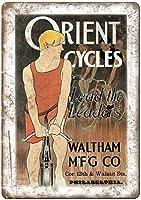 オリエントサイクルウォルサム自転車ブリキ看板壁の装飾金属ポスターレトロプラーク警告サインオフィスカフェクラブバーの工芸品