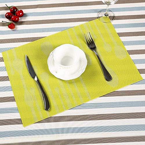 LYMUP Colchonetas cuadradas, impermeables, color amarillo, fácil de limpiar, antideslizante, resistente al calor, almohadilla suave, a prueba de aceite, suministros de vajilla (tamaño: 6 unidades)