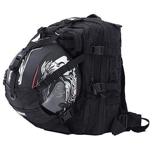 (サイバトロン)Seibertron オートバイ サイクリングバッグ フルフェイス ハーフヘルメットバックパック バイクヘルメットリュック バスケットボール フットボール 防水 パック ブラック