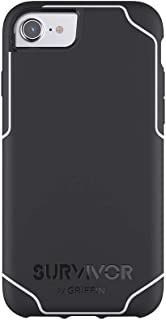 Griffin Survivor Strong iPhone 7 Case with Slim and Shock-Absorbing Design - Black/White