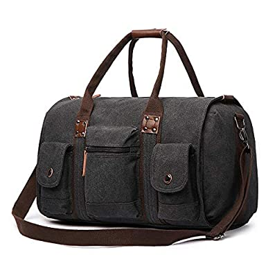 FIDAROOMY Travel Duffel Bags Canvas Weekend Tote Bag