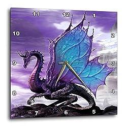 3dRose DPP_4144_2 Fairytale Dragon Wall Clock, 13 by 13-Inch