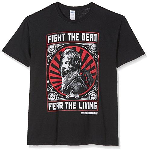 The Walking Dead Daryl Dixon Fight Poster Men's T-Shirt-Black, Homme, Noir