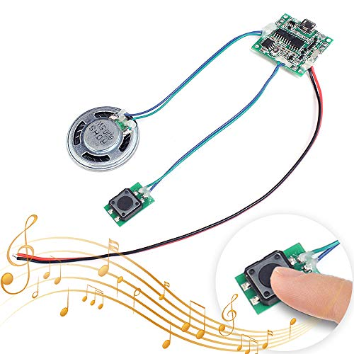 Icstation Recordable Sound Module Button Control 8M MP3 WAV Music Voice Player Programmable Board with Speaker for Childrens Day DIY Music Box Greeting Card Creative Gift