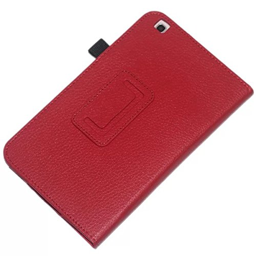Samsung Galaxy Tab 37.0Slim case, Samsung Tab317,8cm cover, Beebiz PU custodia protettiva per tablet Samsung Galaxy Tab 317,8cm tablet cover con supporto #Red Samsung Galaxy TAB3 8.0