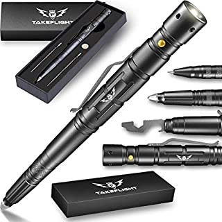 Tactical Pen for Self-Defense + LED Tactical Flashlight,...