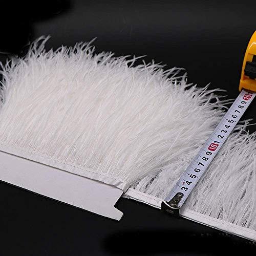 Selene 36 colores de calidad de plumas de avestruz flecos para hacer vestidos de Millinery Craft, crema, 2 m