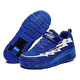 YADLCR Zapatos de Patinaje sobre Ruedas LED, Zapatos de Skate técnicos, una...