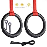 Yajun Fitness Gymnastic Rings Heavy Duty ABS Plastic Exercise Gym Pull Ups Indoor Home Pull-Up...