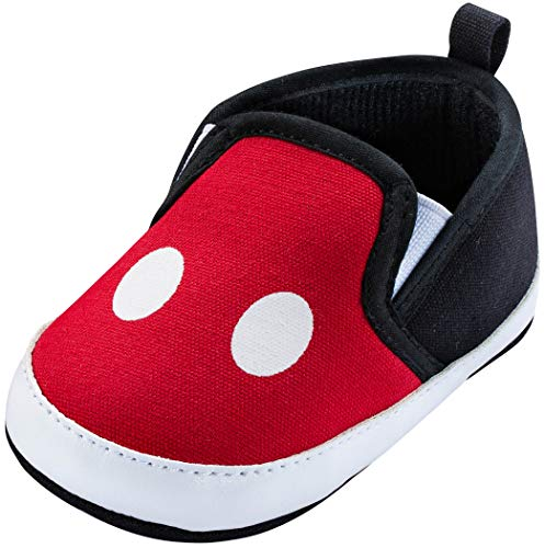 Disney Mickey Mouse Red and Black Infant Shoes (Red and Black, 12_Months)
