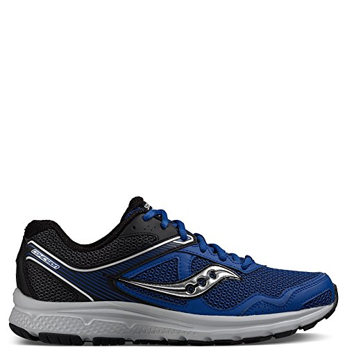 Saucony Men's Cohesion 10 Running Shoe, Royal/Black, 11.5 M US