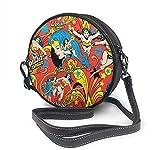 naotaori Bolso redondo mujer Round Crossbody Bag Hero is A Woman Handbag Purse Single Shoulder Bag Sling Bag