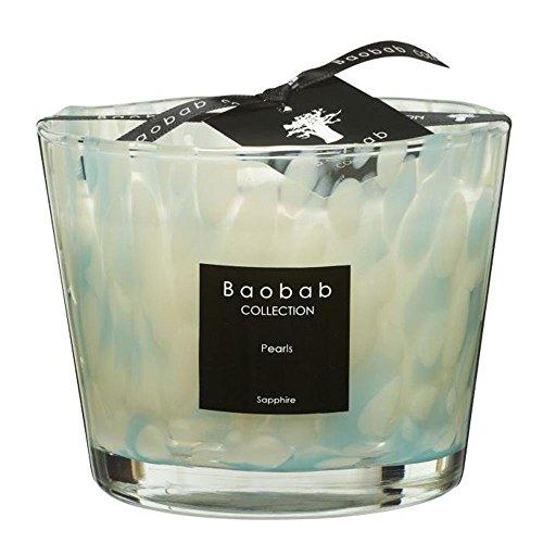 Baobab Max 10 Pearls Sapphire Kerze, Kerzenwachs, 10cm, 10x7x10 cm