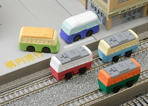 Buses and Train Cars Erasers Set of 5 by Iwako