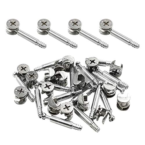 ZXHAO Furniture Cabinet Fixing Screw Locking Bolt Fitting 30pcs