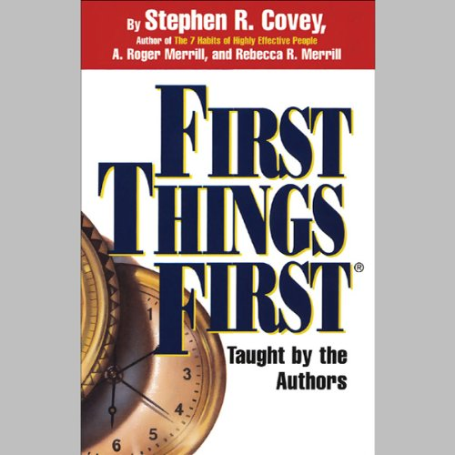 Page de couverture de First Things First