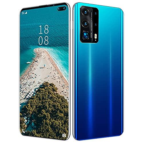 YouthRM Teléfonos Celulares Desbloqueados Pantalla Completa de 6.6'FHD +, P45 Pro 5000mah Batería de Alta Capacidad Smartphone con Procesador de 10 Núcleos, Teléfono Dual SIM,Blue