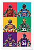 "JUNIQE® Pop Art Basketball Poster 20x30cm - Design ""NBA"