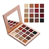 IMAGIC 16 Colors Matte Shimmer Eyeshadow Palette Glitter Smoky Earth Color Eye Shadow Long-Lasting