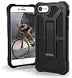 Urban Armor Gear Monarch Funda para Apple iPhone SE (2020) / 8 / 7 / 6S Cubierta protectora (Compatible con la carga inalámbrica, Resistente a los choques, Parachoques ultra delgado) - Negro