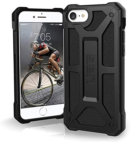 URBAN ARMOR GEAR UAG Designed for iPhone SE (2020) Case [4.7-inch Screen] Monarch [Black] Rugged Shockproof Military Drop Tested Protective Cover
