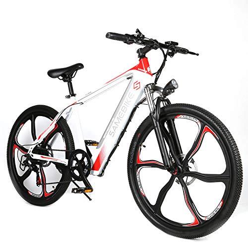 Carsparadisezone Biciclette Elettriche Mountain Bike Pedalata Assistita 250W 26 Pollici 30 km/h Uomo Donna Adulti 36V 8AH Batteria al Litio Shimano 7 velocità Freni a Disco 3 modalità [EU Stock]